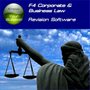 ACCA F4 Corporate & Business Law Revision Software STi | Software | Training