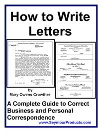 how to write letters + mrr