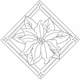 poinsettia digital stamp set