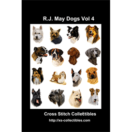 robt. j. may vol 4 cross stitch collection - 16 cross stitch pattern by cross stitch collectibles