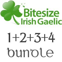 bitesize irish gaelic audio program - 4-pack bundle