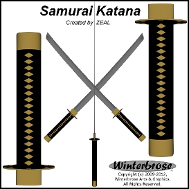 Samurai Katana 3D Model for Poser / Daz Studio | Movies and Videos | Animation and Anime