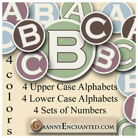 Granny Enchanteds Set of 4 Alphas and Numbers | Crafting | Paper Crafting | Other