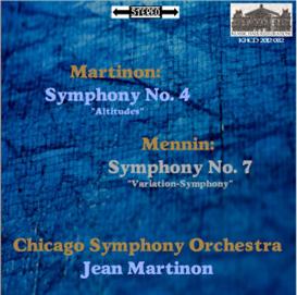 martinon: symphony no. 4 (