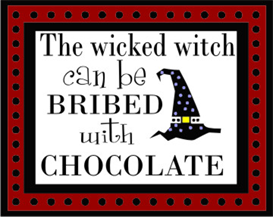 Wicked Witch Bribed with Chocolate machine embroidery file | Crafting | Sewing | Holiday and Seasonal