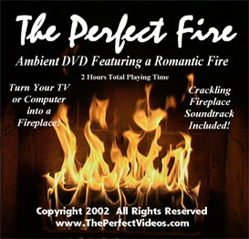 "Real Crackling Fireplace Video Cozy Warm Romantic Relaxing Holiday Yule Log ""The Perfect Fire"""