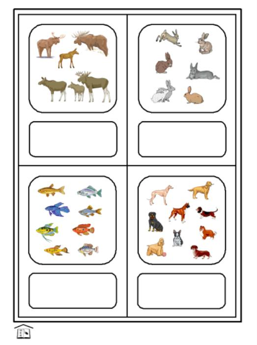 First Additional product image for - ¿CUÁNTOS  ANIMALES? Spanish animals & numbers activity set