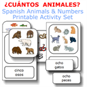 ¿CUÁNTOS  ANIMALES? Spanish animals & numbers activity set | eBooks | Education