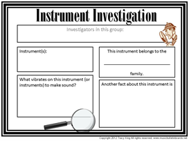 Instrument Investigation Worksheet | Other Files | Everything Else