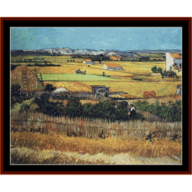 Harvest at La Crau - Van Gogh cross stitch pattern by Cross Stitch Collectibles | Crafting | Cross-Stitch | Other