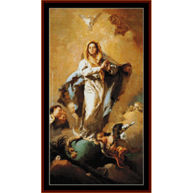 Immaculate Conception - Tiepolo cross stitch pattern by Cross Stitch Collectibles | Crafting | Cross-Stitch | Wall Hangings