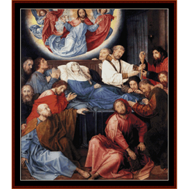 Death of the Virgin - Van der Goes cross stitch pattern by Cross Stitch Collectibles | Crafting | Cross-Stitch | Wall Hangings
