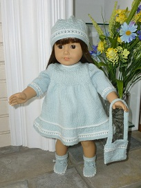 Doll Knitting Pattern - A005 - Aqua Dream