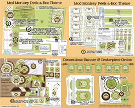 Peek-a-Boo Monkey BS Perfect Party Pack MPPv4 (non-personalized/generic) | Other Files | Patterns and Templates