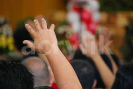 Hands Raised in Church | Photos and Images | General