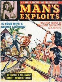 man's exploits, march 1964 (complete issue)