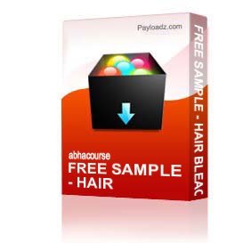 FREE SAMPLE - HAIR BLEACHING ADVANCED