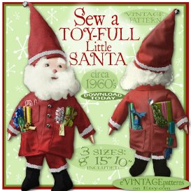 TOYful Little SANTA Cloth DOLL vintage pattern | Crafting | Sewing | Dolls and Toys