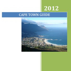 The alternative city guide to Cape Town South Africa
