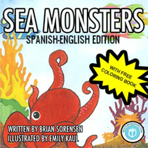 First Additional product image for - Sea Monsters Spanish-English plus Coloring Book