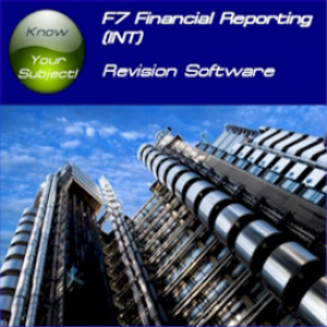 ACCA F7 Financial Reporting INT Revision Software STi | Software | Training
