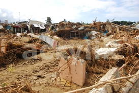 Houses Destroyed and Covered with Mud After a Flood photo | Photos and Images | Architecture
