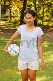 Photo of a Young Woman Holding a Soccer Ball | Photos and Images | Sports