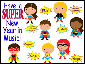SUPER New Year in Music Bulletin Board Kit