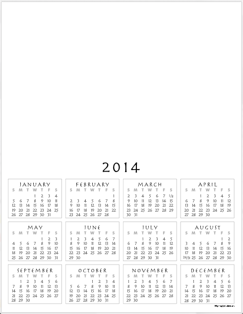 First Additional product image for - FREE 2015 CALENDAR blank, printable PDF