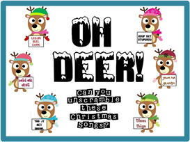 Oh Deer Christmas Scramble Bulletin Board Kit | Other Files | Patterns and Templates