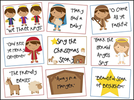 Sing the Christmas Story Bulletin Board Kit | Other Files | Patterns and Templates