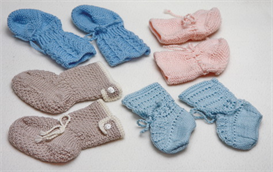 BabyKnittingPatterns - 0002B FELIX - 4 Baby socks | Crafting | Knitting | Baby and Child