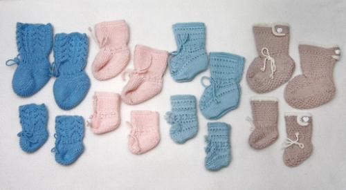First Additional product image for - Baby+DollKnittingPatterns - 0002DB FELIX - 4 Doll + Baby socks