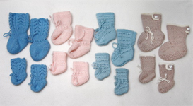 Baby+DollKnittingPatterns - 0002DB FELIX - 4 Doll + Baby socks | Crafting | Knitting | Other