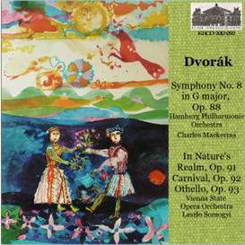 dvorák: symphony no. 8 in g, op. 88 - hamburg philharmonic orchestra/charles mackerras; in nature's realm, op. 91; carnival; op. 92; othello, op. 93 - vienna state opera orchestra/laszlo somogyi
