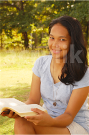 Young Woman Reading a Book | Photos and Images | General