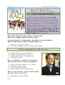 RAT RACE, Whole-Movie English (ESL) Lesson | eBooks | Education