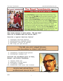 THE ROYAL TENENBAUMS, Whole-Movie English (ESL) Lesson | eBooks | Education