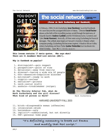 THE SOCIAL NETWORK, Whole-Movie English (ESL) Lesson | eBooks | Education