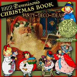 1920's dennison christmas book vintage art deco party decoration ideas bogie bk