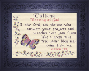 Name Blessings -  Taliana | Crafting | Cross-Stitch | Religious