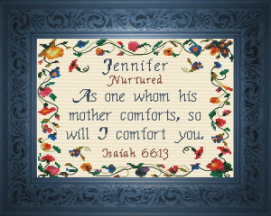 Name Blessings -  Jennifer 2 | Crafting | Cross-Stitch | Religious