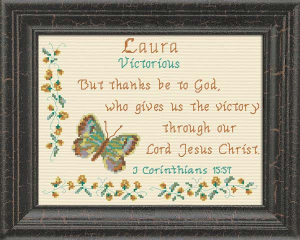 Name Blessings -  Laura 2 | Crafting | Cross-Stitch | Religious