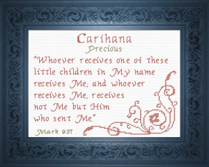 Name Blessings -  Carihana | Crafting | Cross-Stitch | Religious