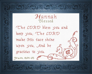 name blessings -  hannah 3