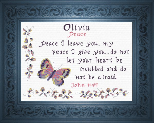 Name Blessings -  Olivia 2 | Crafting | Cross-Stitch | Other