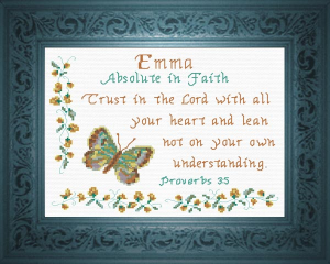 Name Blessings -  Emma 3 | Crafting | Cross-Stitch | Religious
