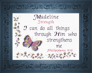 Name Blessings -  Madeline | Crafting | Cross-Stitch | Other
