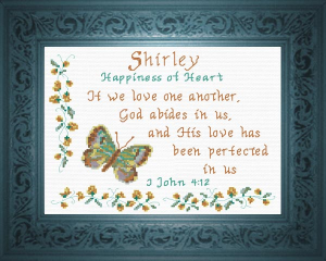 Name Blessings -  Shirley 2 | Crafting | Cross-Stitch | Religious