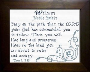 Name Blessings -  Wilson | Crafting | Cross-Stitch | Religious